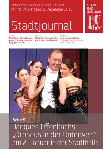 Stadtjournal Ausgabe 49/2013 - Stadt Bad Saulgau