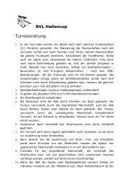 BVL Hallencup Turnierordnung BVL Hallencup - BV Bad Lippspringe
