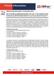 101213, Nachwuchsmannschaften im 3rd IIHF Break im Einsatz