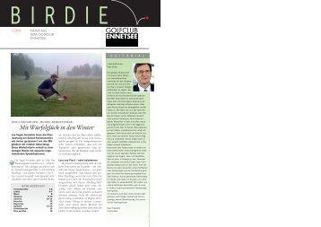 Birdie 3-12 - Golf Club Ennetsee