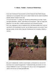 11. Mixed – Fußball – Turnier am Pallotti-Haus - HIT-Karlsruhe