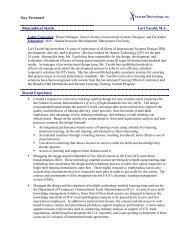 Key Personnel - Human Technology, Inc.