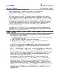 Key Personnel Biographical Sketch Steven E. Smith, M.Ed. Recent ...