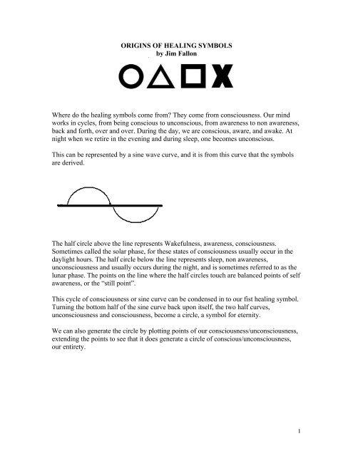 Origins of Healing Symbols - Huna org