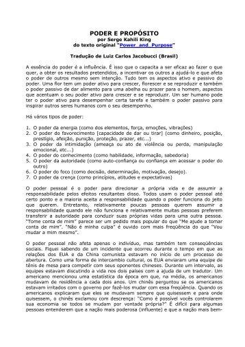 PODER E PROPÓSITO - Huna.org