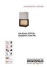 Eck-Kamin 57/67/44 Schiebetür (easy-lift) - Brunner
