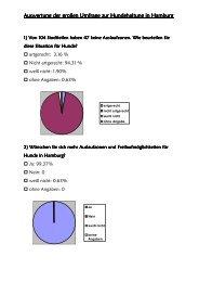 Auswertung der Auswertung der großen Umfrage zur ... - Hundelobby