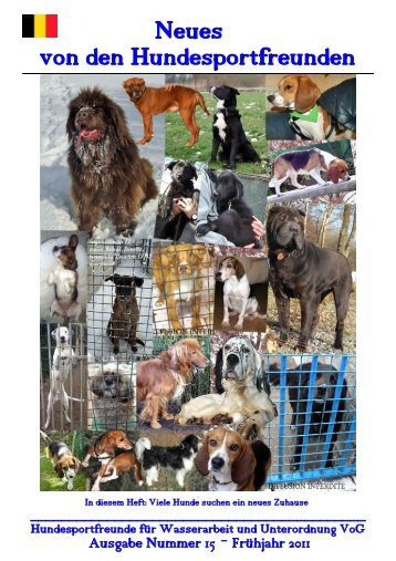 Ausgabe Nr. 15 Frühling - Sommer 2011 - hunde-wasserarbeit