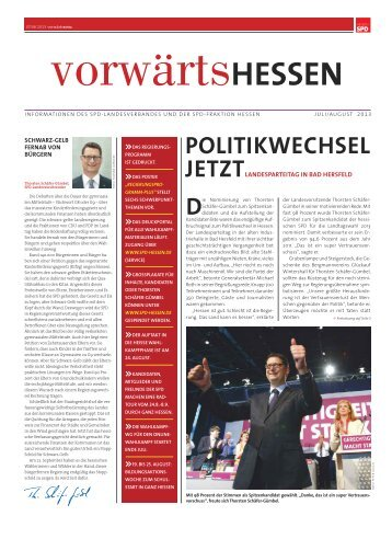 Split Juli / August 2013 - SPD-Fraktion im Hessischen Landtag