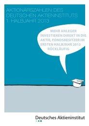 Aktionärszahlen des Deutschen - Deutsches Aktieninstitut