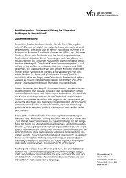 Kostenentwicklung bei klinischen Prüfungen in Deutschland - VfA