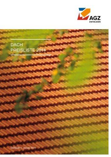 dach Preisliste 2014 - AGZ Ziegeleien