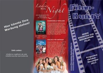 Filmkunst-Ladynight Flyer - Seite 1 - Ingelheim