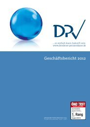 Geschäftsbericht 2012 - Dresdener Pensionskasse VVaG