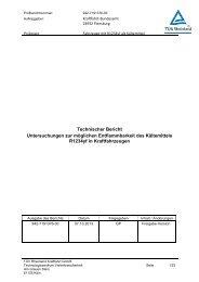 Technischer Bericht Untersuchungen zur möglichen ...