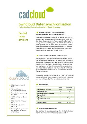 ownCloud Datensynchronisation - Solid System Team