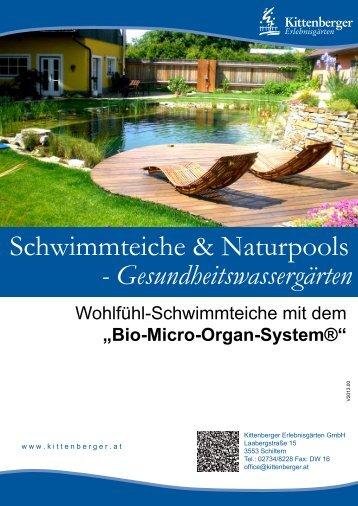 Schwimmteiche & Naturpools - Kittenberger Erlebnisgärten
