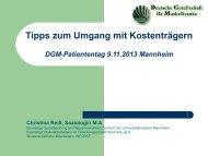 Vortrag von Frau Reiß - DGM