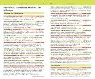 Freizeitlinien, Fahrradbusse, Museums- und Seilbahnen - VCD