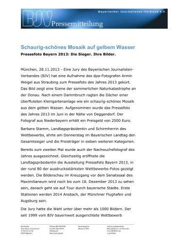 BJV Pressemitteilung: Pressefoto Bayern 2013 - Bayerischer ...
