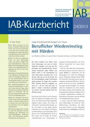 Aktuelle Analysen - IAB