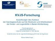 """Bericht zum KVJS -Forschungsprojekt """"Auswirkungen des Ausbaus ..."""