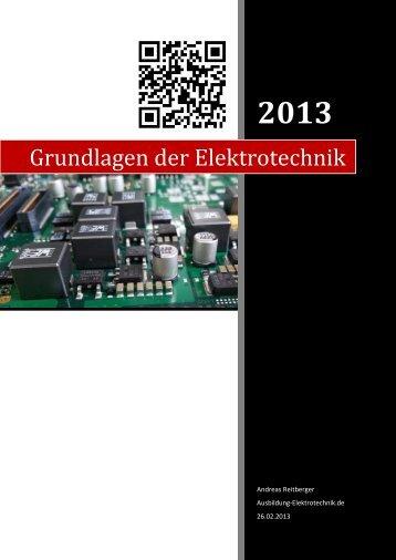 Ausbildung Grundlagen Der Elektrotechnik 2013