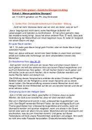 Warum geistliche Übungen? - Lutherhaus Jena