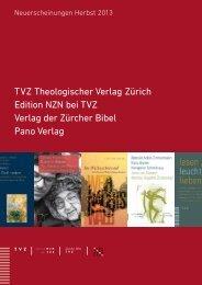 Neuerscheinungen Herbst 2013 - TVZ