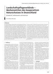 landschaftspflegeverbände – Markenzeichen des kooperativen ...