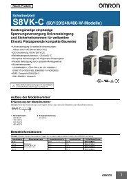 S8VK-C (60/120/240/480-W-Modelle) - Omron Europe