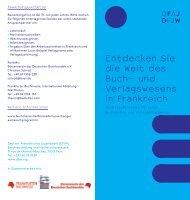Infoflyer - Börsenverein des Deutschen Buchhandels