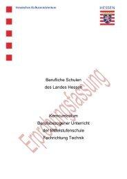Fachrichtung Technik - Berufliche Bildung in Hessen