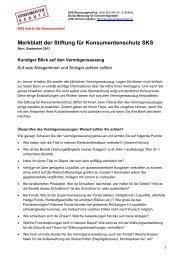 Merkblatt Vermögensauszug PDF - Stiftung für Konsumentenschutz