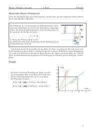 Hooke'sches Gesetz (Federgesetz) Beispiel
