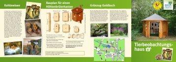Tierbeobachtungshaus Flyer 2013 - Stadt Nürnberg