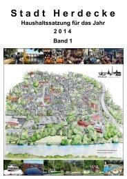 HH-Satzung 2014 Band 1 - Stadt Herdecke
