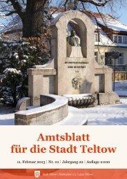 Amtsblatt für die Stadt Teltow - der Stadt Teltow