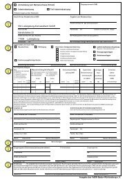 Anmeldung- Inbetriebsetzungsformular in der Ausgabe des VdEW ...