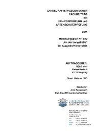 Landschaftspflegerischer Fachbeitrag mit FFH-Vorprüfung und ...
