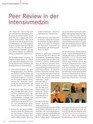 Peer Review in der Intensivmedizin - Ärztekammer Niedersachsen