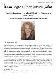 Agnes Alpers Aktuell Ausgabe 13 (September 2013) als PDF-Datei