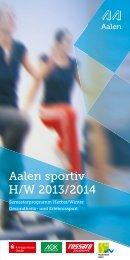 Aalen sportiv Herbst / Winter 2013 / 2014 - Stadt Aalen