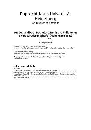 BA 25% Literaturwissenschaft - Universität Heidelberg - Ruprecht ...