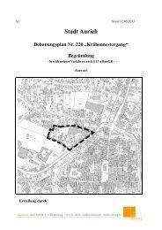 "Stadt Aurich Bebauungsplan Nr. 220 ""Krähennestergang"" Begründung"