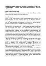 Trialogpredigt - Evangelisch-Lutherische Kirche in Bayern