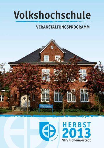 Download aktuelles VHS-Programm - Gemeinde Hohenwestedt