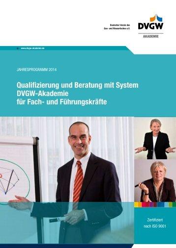 Qualifizierung und Beratung mit System - DVGW - Deutscher Verein ...