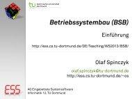 Betriebssystembau (BSB): 01-Einführung - Embedded System ...