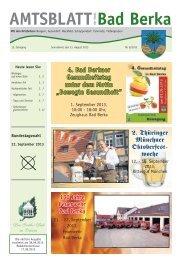Ausgabe 8/2013 - Kurstadt Bad Berka